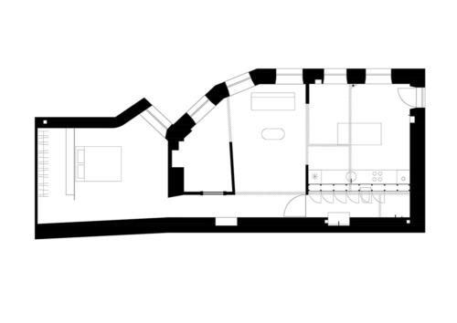 archistory-Архитекторы бюро Šarkauskai перестраивают квартиру 19 века в Вильнюсе00013
