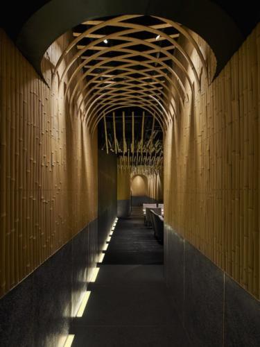 archistory-Японские архитекторы создали бамбуковую рощу внутри Пекинского ресторана00011